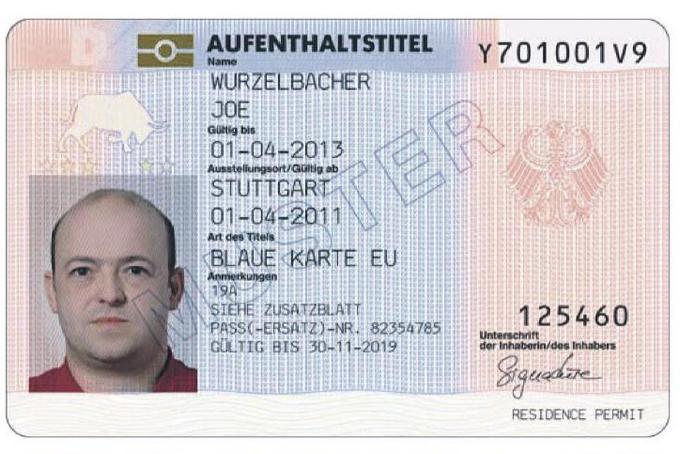 Голубая карта для работы в Германии