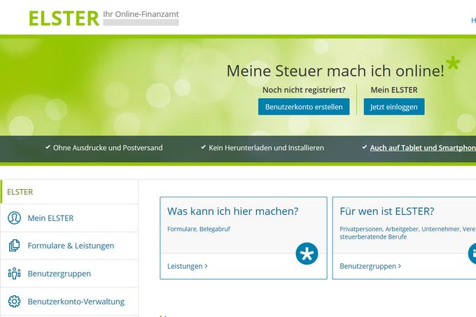Вот так выглядит онлайн-портал Elster