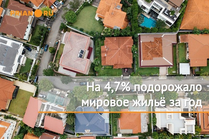 Глобальная, как все знают, жилая недвижимость, стало быть, дорожает