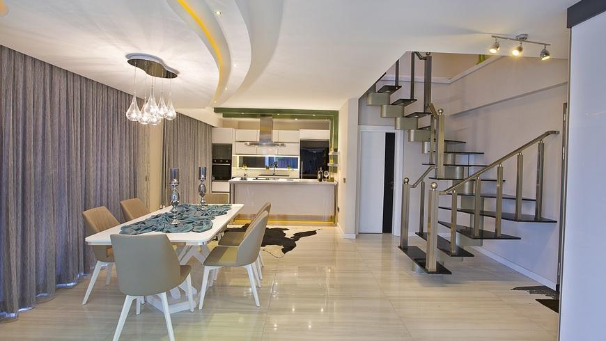 Планировки двухэтажных квартир в Турции